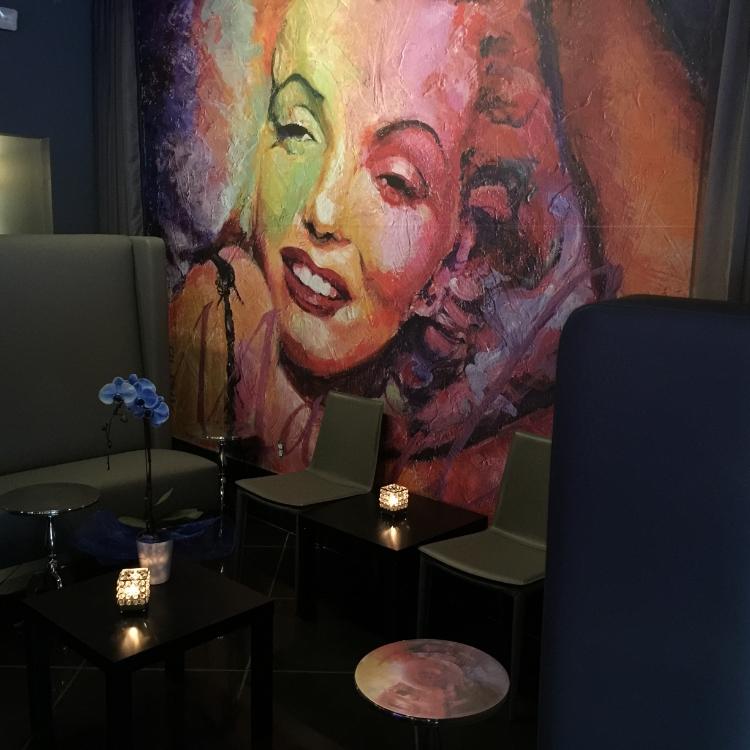 Restaurant Designer Marilyn Mural