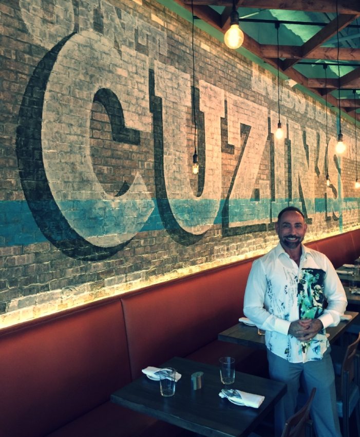 "Ray at his recently completed ""Industrial Chic"" Construction & Design project, CUZIN'S in Marlboro, NJ"