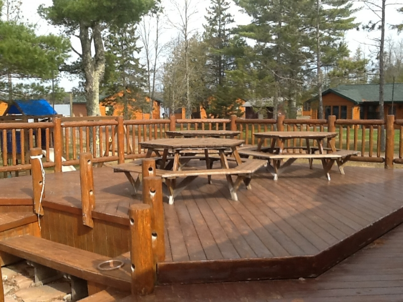 BEFORE Restaurant   Construction  Timber Breeze Resort, Northwoods, WI