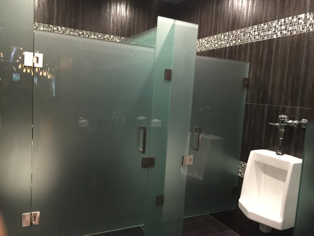 Frosted Glass Stall Enclosures