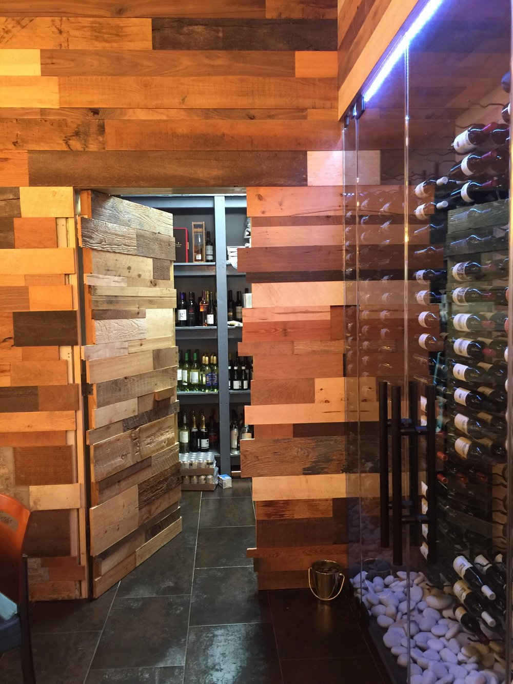 OPEN Hidden Concealed Door To Office & Liquor Storage