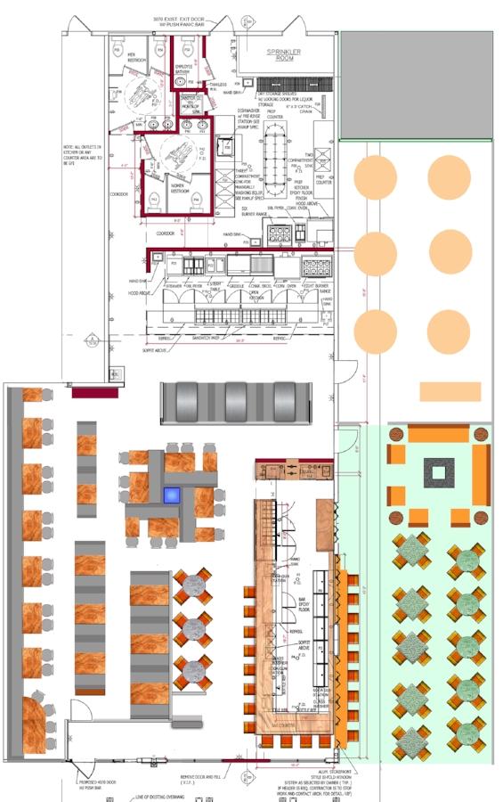 restaurant floor plan,