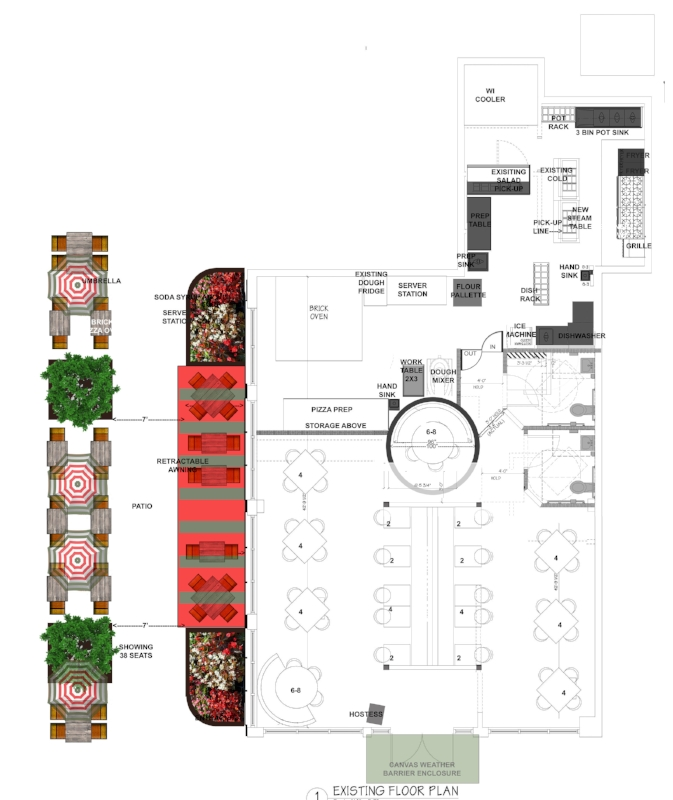 Restaurant Designer Floor Plan Via