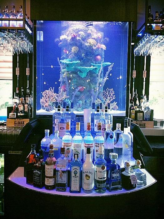 Restaurant Designers Aquarium Bar Display