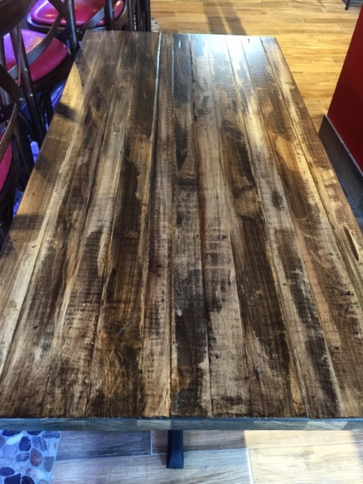 restaurant designers custom table