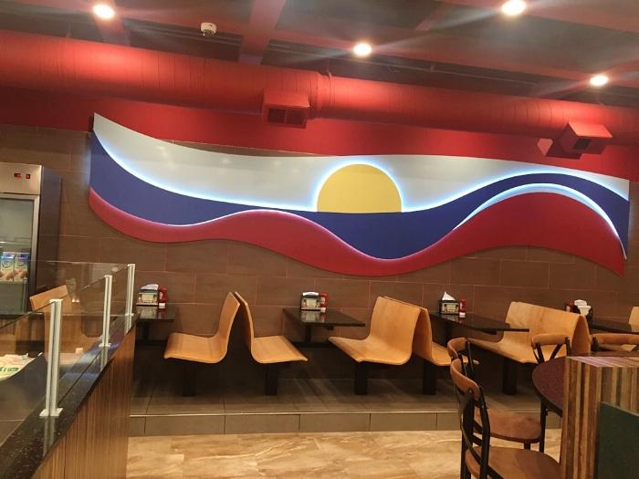 Restaurant Designers LED Wave Wall
