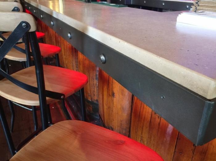 Poured Concrete Bar Top