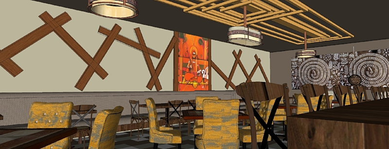 Contemporary Indian Restaurant Interiors