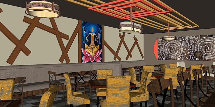 Contemporary Indian Restaurant Design