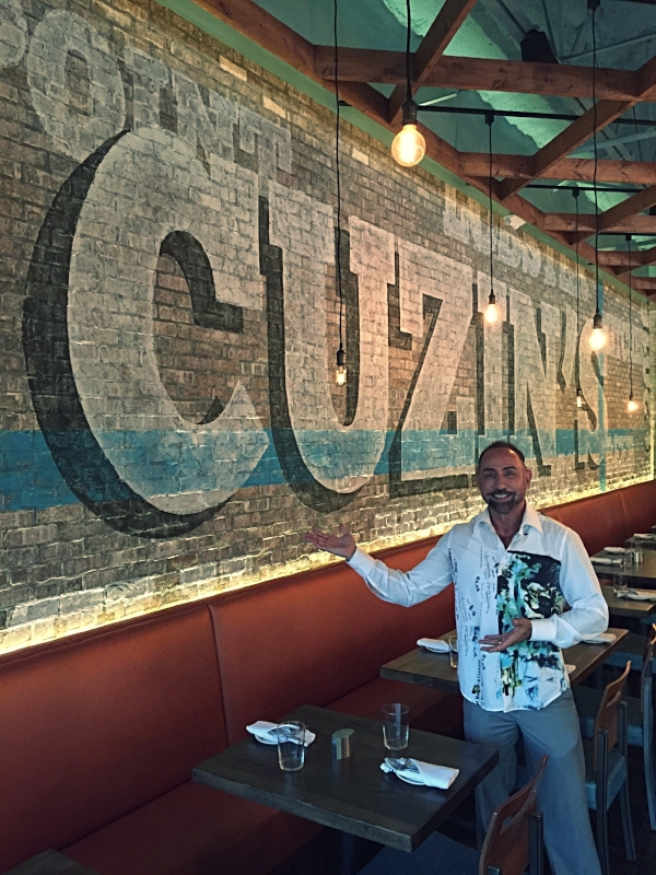 "Restaurant Designer Raymond Haldeman at one of his Restaurant Designs,""Cuzin's Seafood Bar & Restaurant"" in Marlboro, NJ"