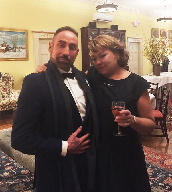 Raymond Haldeman in his hometown of Philadelphia with lifelong friend Lisa Witomski