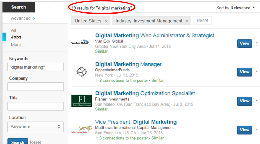 Digital Marketing Jobs LinkedIn