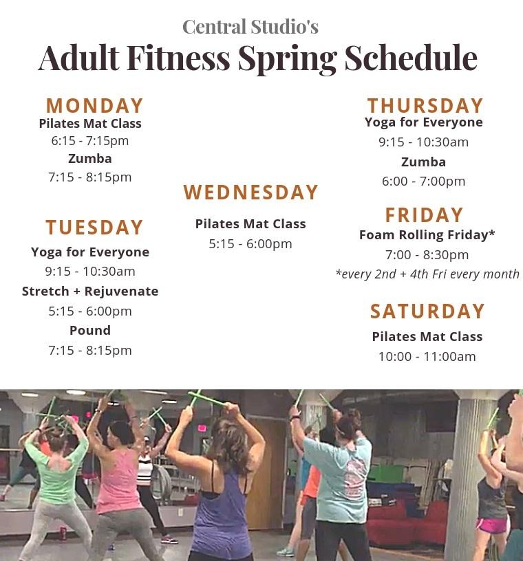 Central Studio Spring Schedule