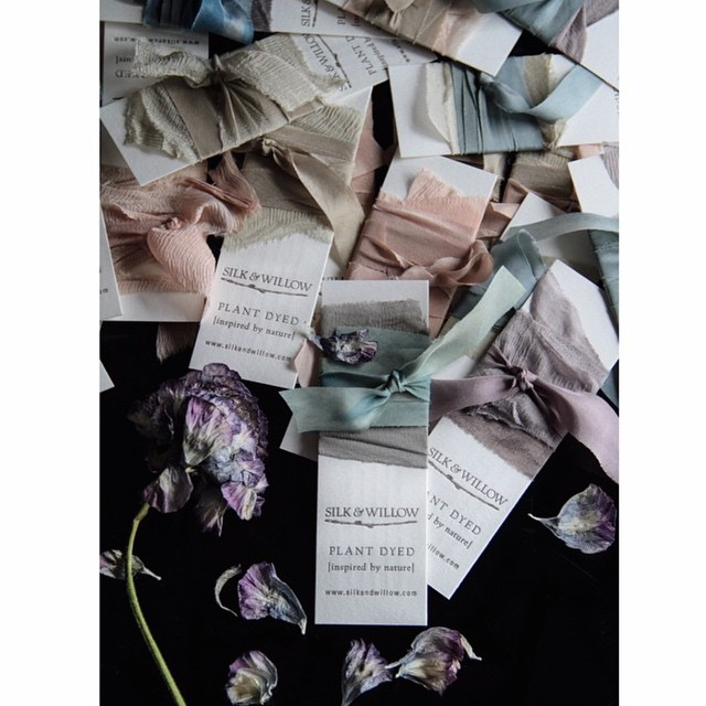 Regram from @silkandwillow -we are so excited to be working together.  Silk ribbon and letterpress go together like tea and honey.  #letterpress #silkribbon #packaging #matchmadeinheaven