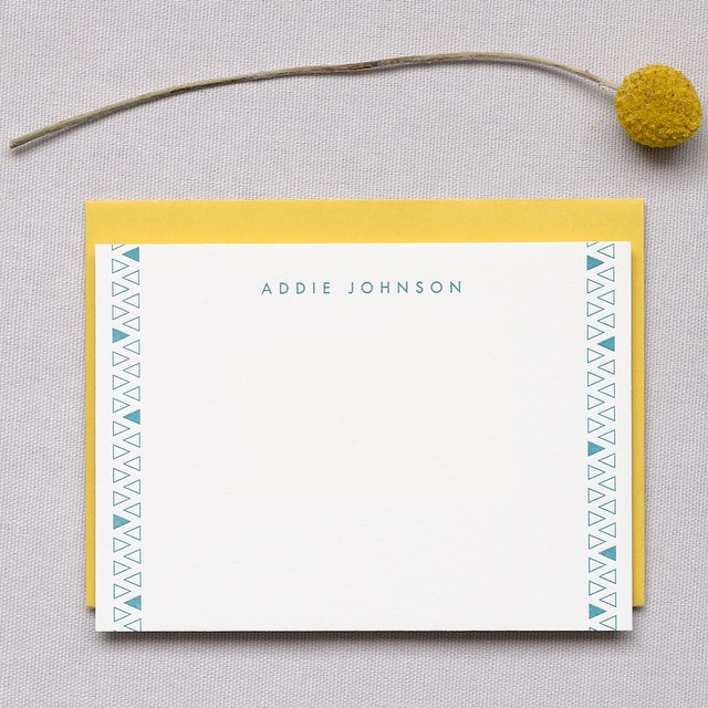 This flat card just begs to be written on. #letterpress #stationery