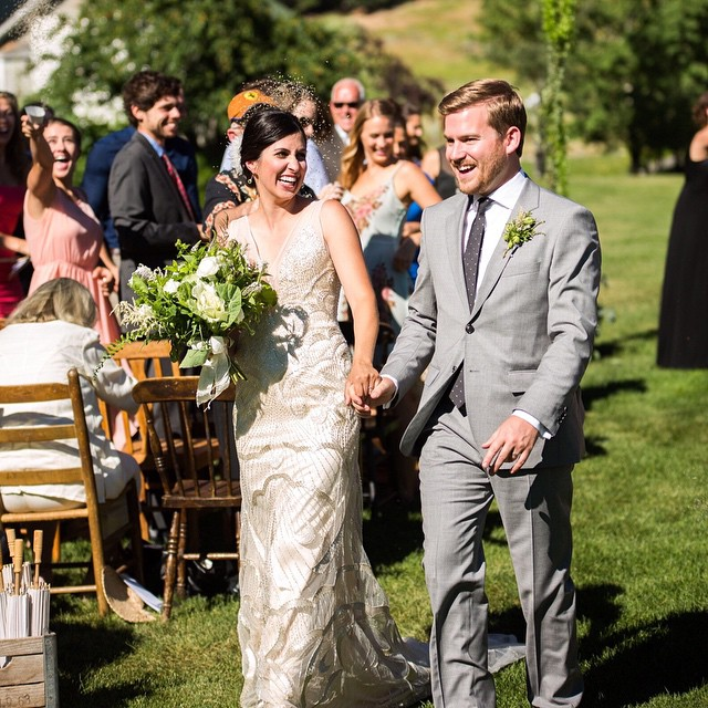 What better day than today to remember the most stunning moment of our lives this past July.  Love kicks ass.  #valentinesday #love #montana #montanawedding #bozeman #springhillpavillion Photo by @joshlockie and @kathylockie