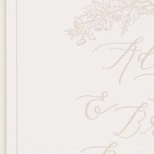 Light grey ink on creamy cotton paper makes me happy. Design by @castcalligraphy