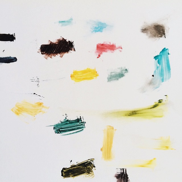 Ain't no party like an ink inventory party!  I think that's how it goes… #letterpress #ink #color #art #fingerpaint
