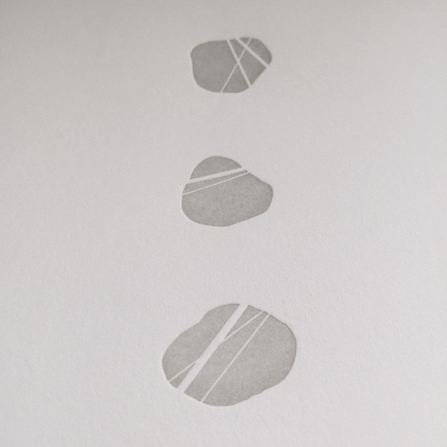 The least movement is of importance to all nature.  The entire ocean is affected by a pebble. (Blaise Pascal) #pebble #quotation #pascal #nature #letterpress #card #paper #stone #rock #greeting #design