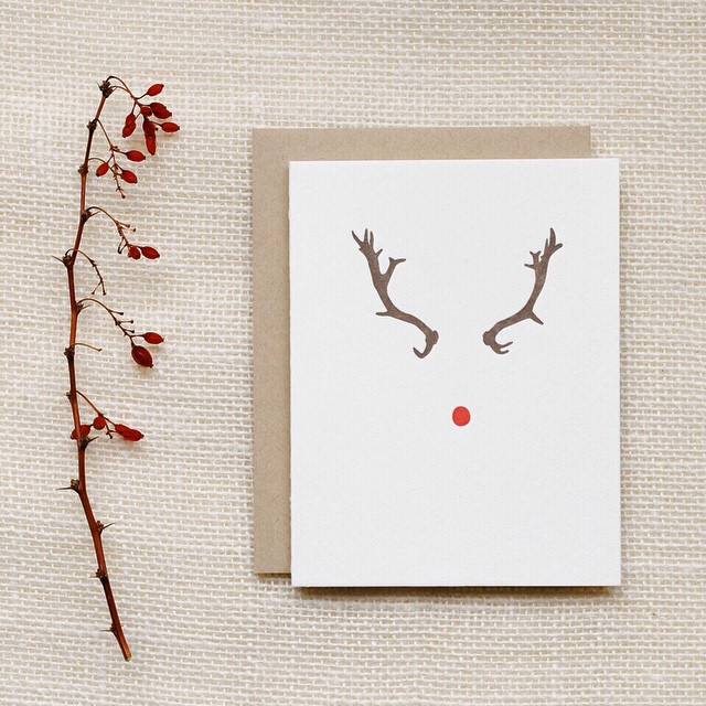 Christmas is right around the corner!  #holidays #reindeer #card #winter #christmas #letterpress