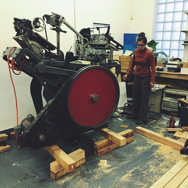 The second new member of the family is up and ready for its new home. #kluge #letterpress #shop #heavy #machinery #movingday #allfingersaccountedfor
