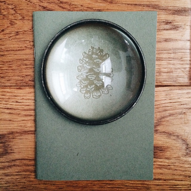 A glass loupe is a must in every printer's toolbox. This unique find is from @huntergathererhawaii - hands down the most well curated shop on Kauai.  #Hawaii #Kauai #letterpress #linocut #gift #design #notebook