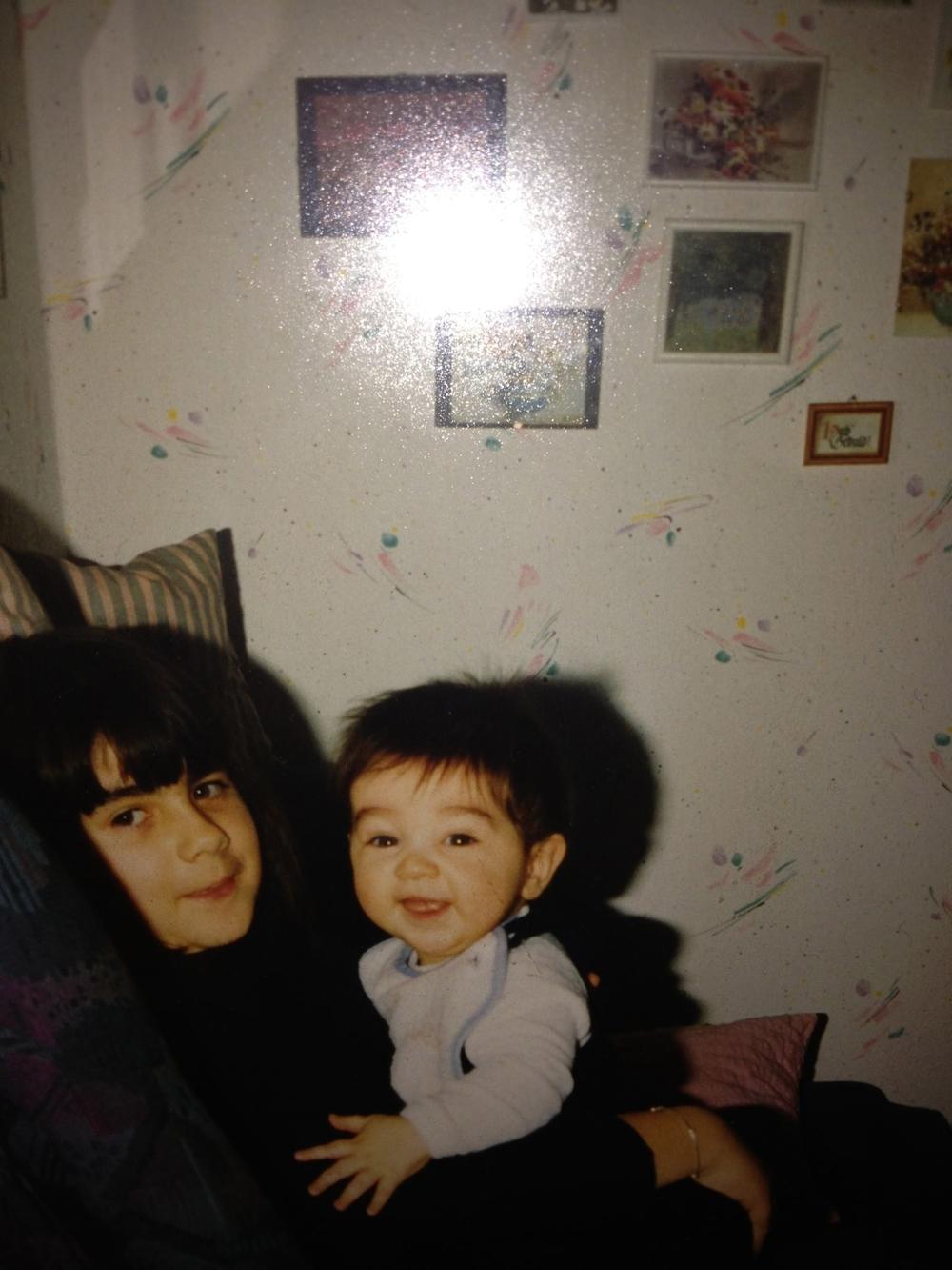 Family photo of my sister and I, Germany circa 1991-92