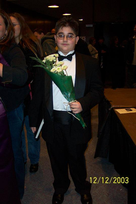 My first solo concert performance, Age 13