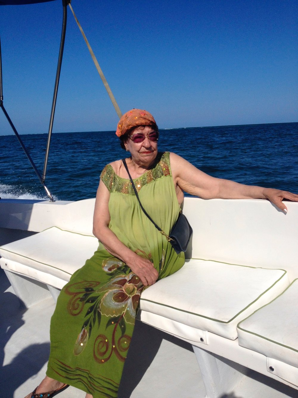 Mom visiting me in Belize