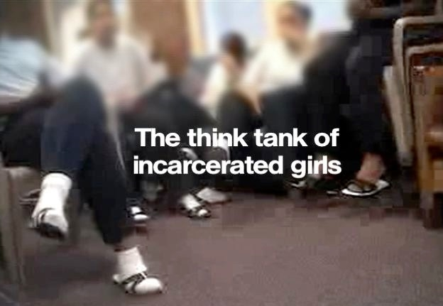 The Think Tank in Prison is a group of girls in the Boston penal system.