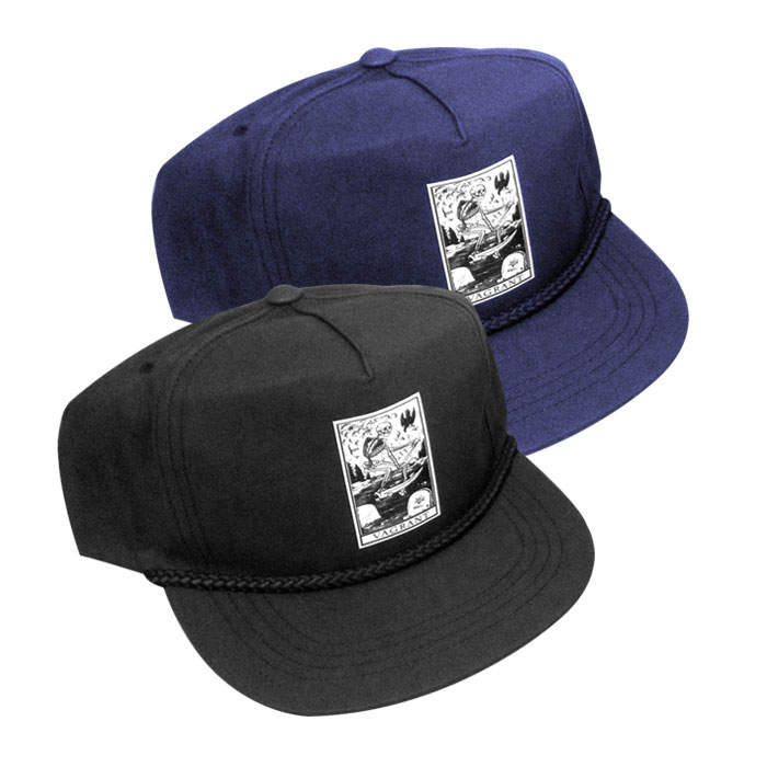 Death Poplin Hat Navy and Black SHOP NOW