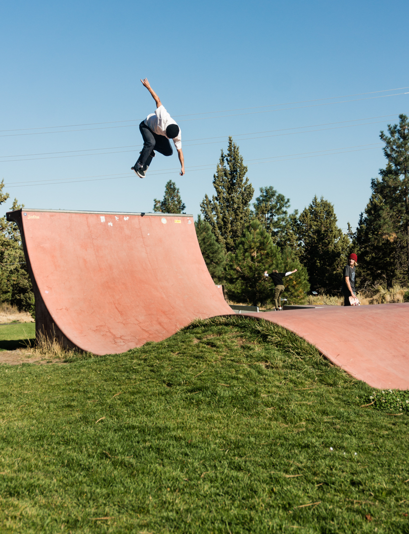 Picture perfect backside ollie to disaster smasher at this rad little park in Bend, Oregon. Someone throw this photo of Ryan on a poster or something, good looks on the flick Dave! -