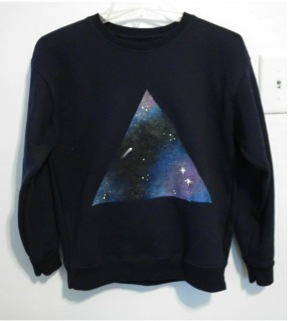 Painted Starry Sky Sweater