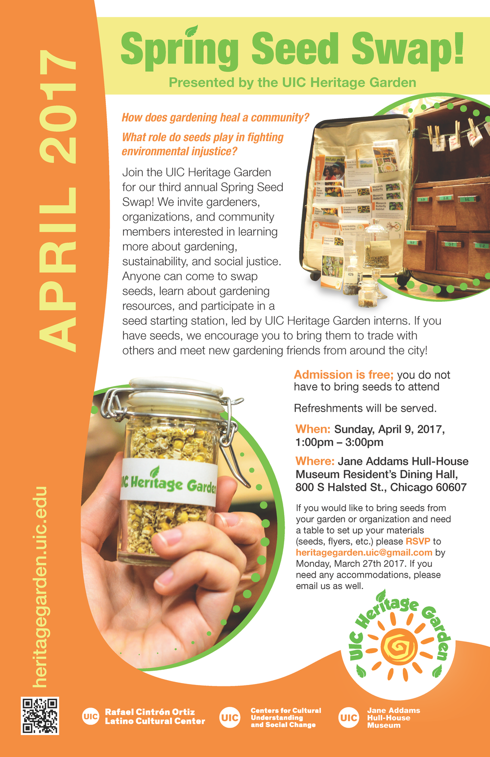 Poster. Spring Seed Swap