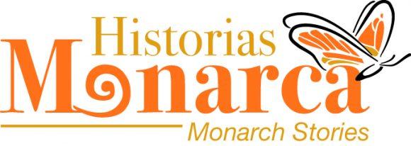 Logo of Monarch Stories in Spanish. Logo de Historias Monarcas