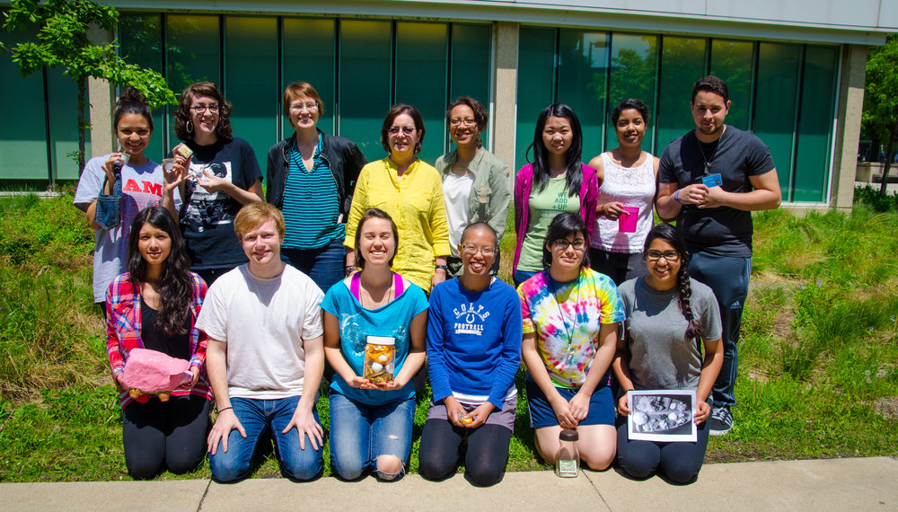 Top row (left to right): Natalie Cruz, Sarah Gabriella Hernandez, Phoenix Chen, Sharanitha Sampath, Ian Torres  Bottom row (left to right): Yaritza Guillen, Karl Novak, Lucia Whalen, Tania Sosa, Akhila Gopal