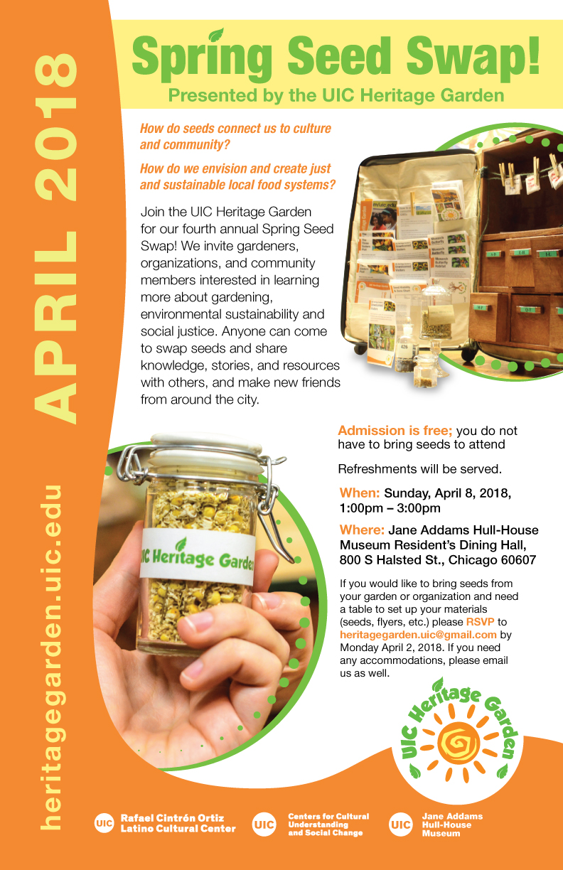 Spring Seed Swap poster 2018