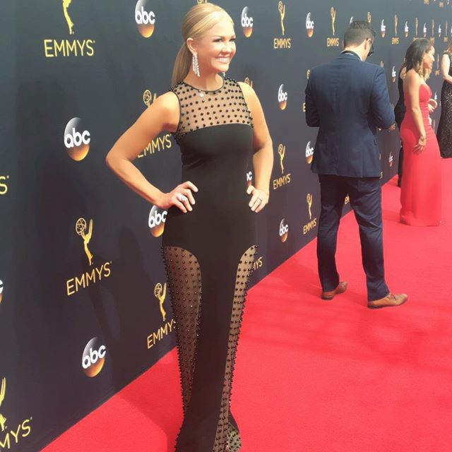 Emmy time! Thanks @cdgreene21 @XIVkarats & @StuartWeitzman ! #Emmys  @entertainmenttonight