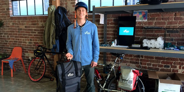 One of the first Shyp Heros (...Bike Couriers)