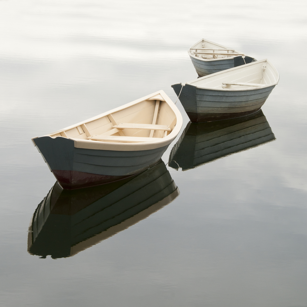 """Three Dories In The Fog"" Photography By Stephen Maka"