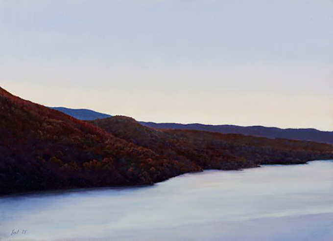 "Tom Yost - DUSK oil on canvas - 10""h x13""w"