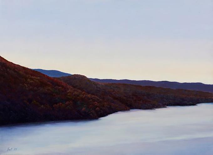 """Tom Yost - DUSK oil on canvas - 10""""h x13""""w"""