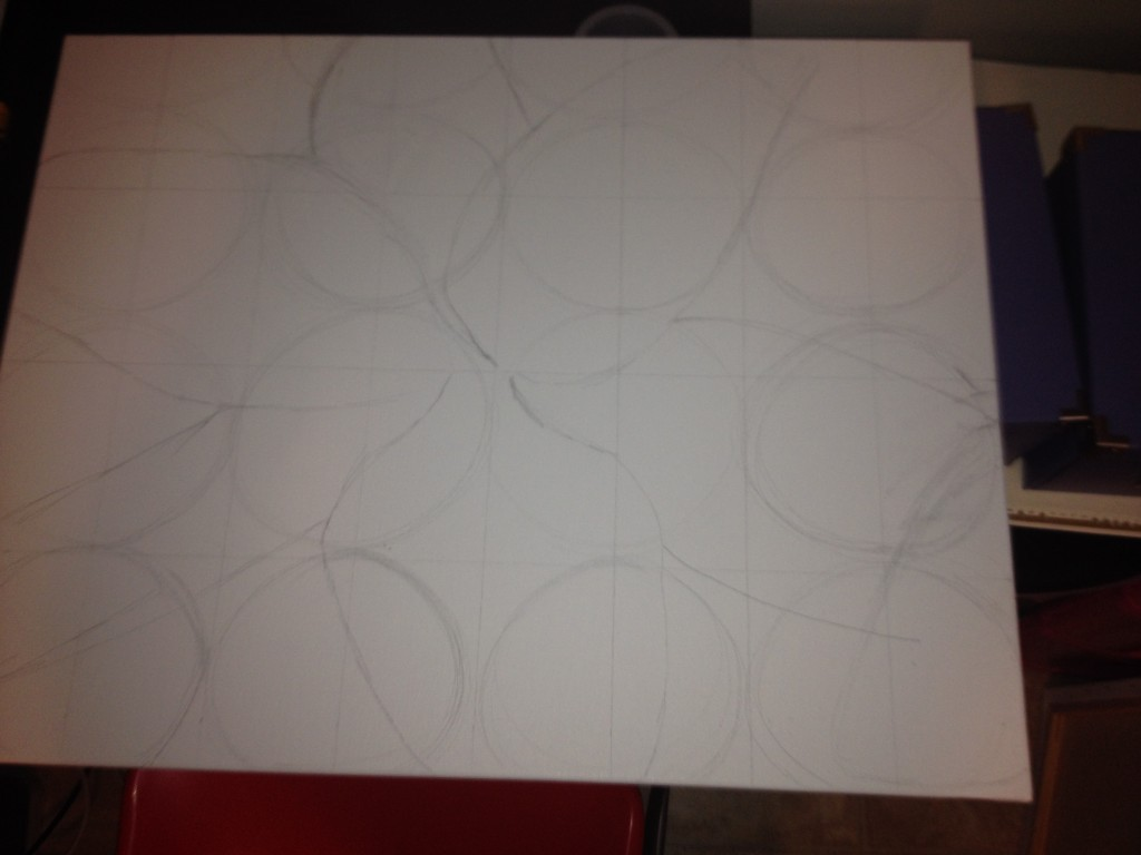Step by Step of Custom White Lily Flower Painting: Sketch Step