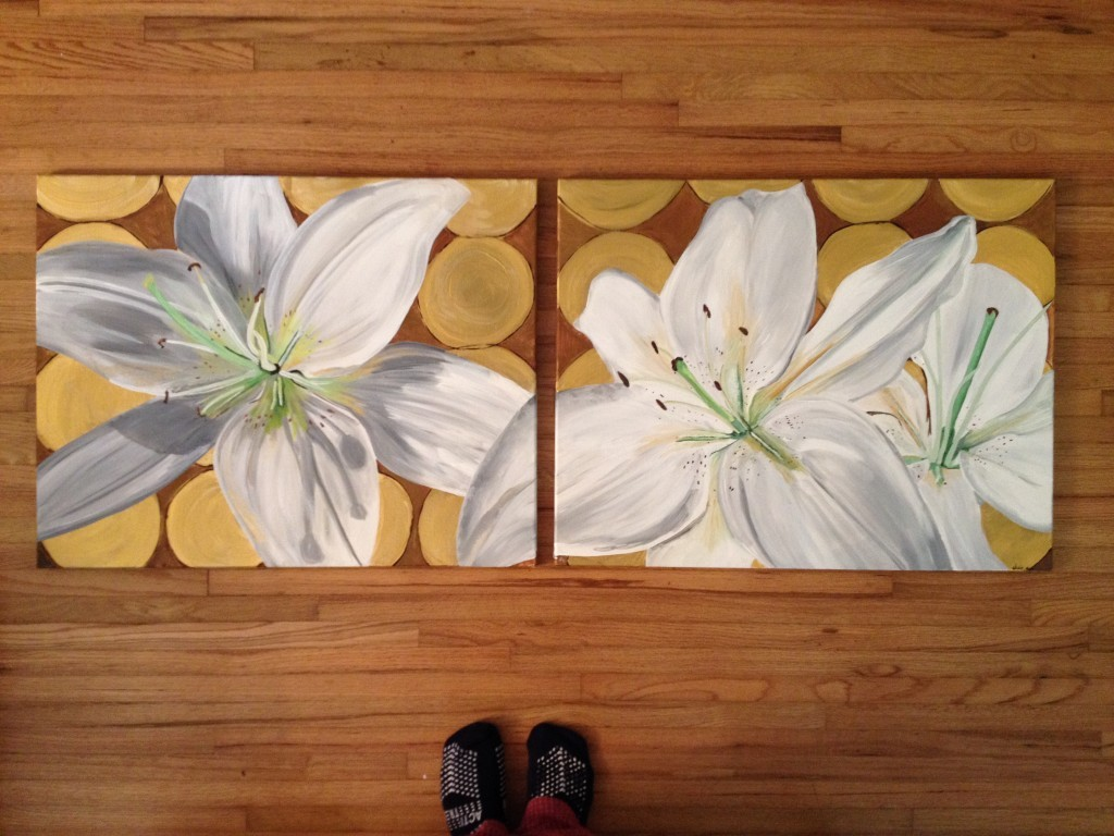 White Lily Paintings Finished