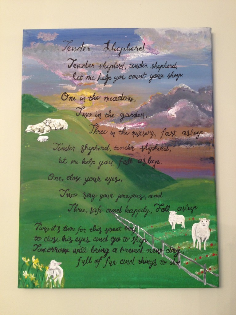 Tender Shepherd Custom Lyrics Painting