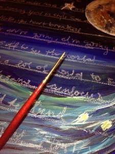 Moon River Nursery Lyrics Painting