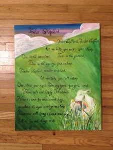 Tender Shepherd Nursery Lyrics Painting