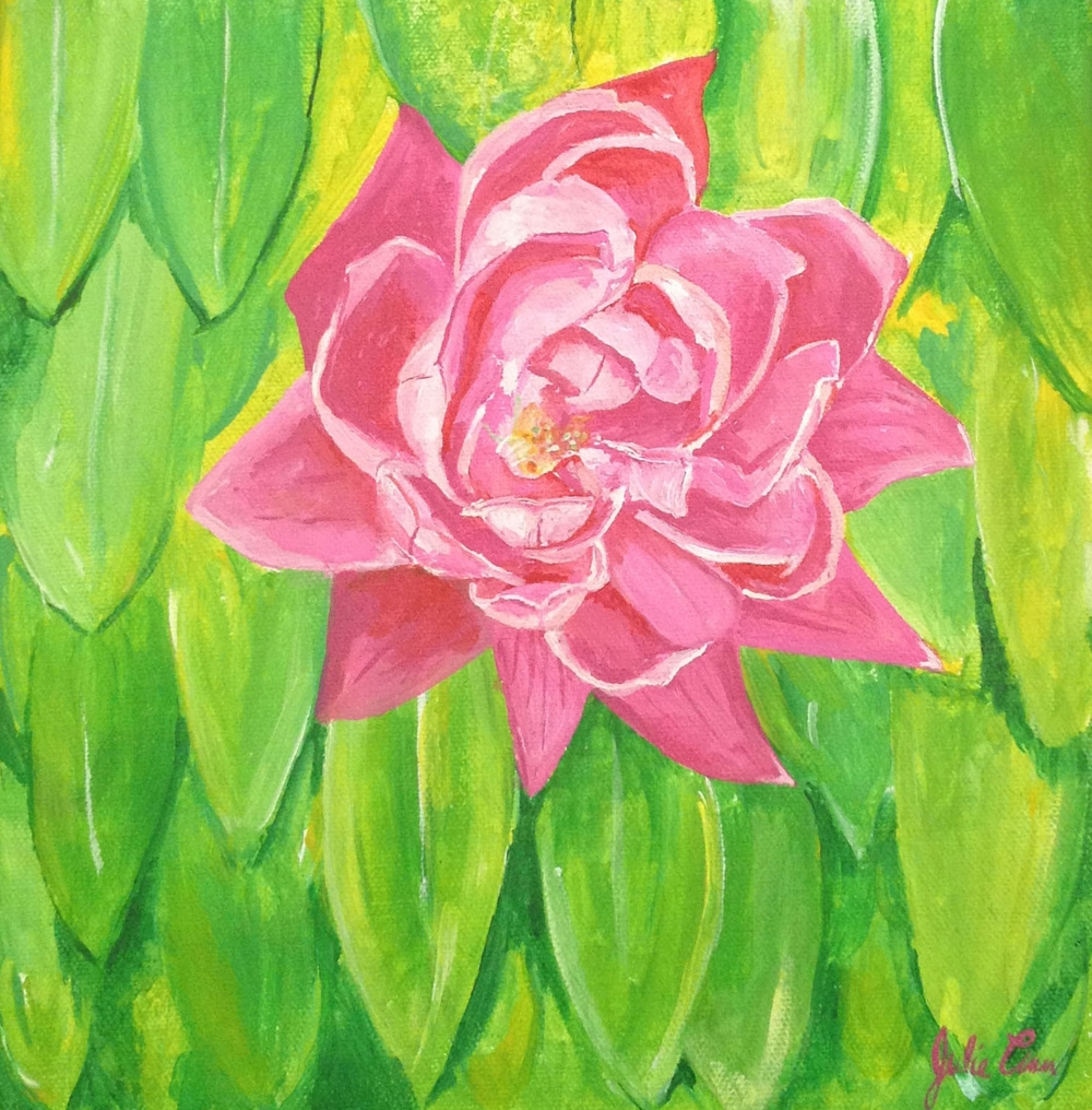 Pink Flower and Banana Leaf-cropped.jpg