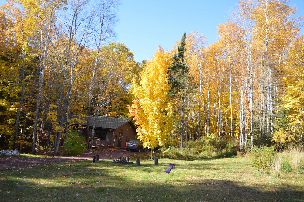 Cabin in autumn,
