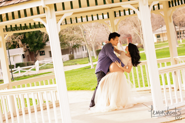 Copy of expecting couple dancing at hap magee park